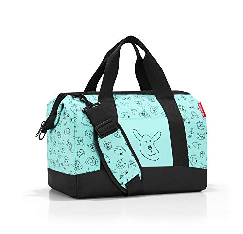 Reisenthel allrounder M kids cats and dogs mint Valigia per bambini, 40 cm, 18 liters, Blu (Mint)