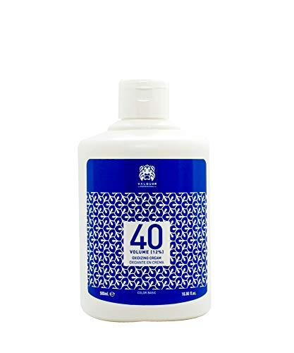 Crema Professionale Ossigenata Valquer Stabilizzata, 40 Volumi (12%). Colorazione permanente dei capelli Uso professionale parrucchiere. Formulazione Vegana - 500 Ml