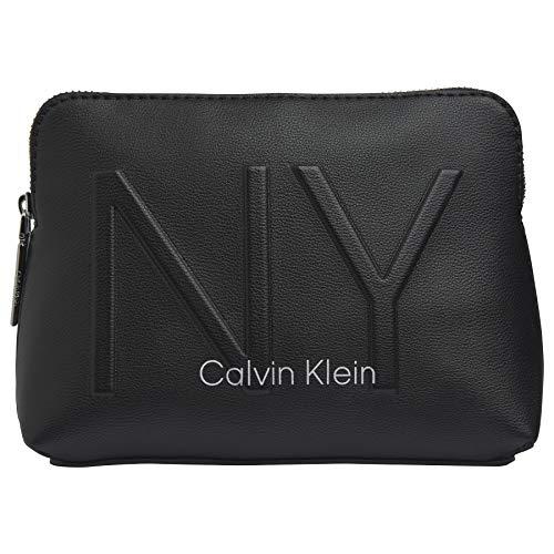 Calvin Klein NY Shaped - Borsa da bagno da donna, Nero , Taglia unica