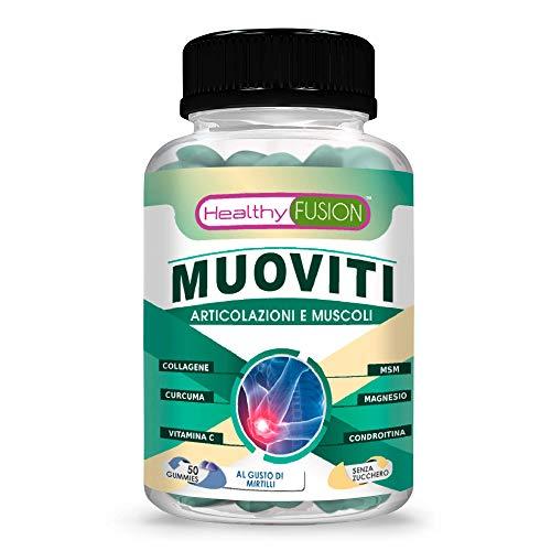 Curcuma + collagene + condroitina + MSM + vitamina C | Articolazioni, muscoli e ossa | Potente antinfiammatorio con azione analgesica | Riduce ed elimina il dolore | Rigeneratore articolare | 50 unità