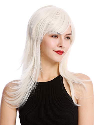 WIG ME UP - GFW242-60 Parrucca Donna Lunga Scalata Frangetta Biondo platino
