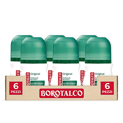 Borotalco Roll-On Original, 6 Pezzi da 50 ml