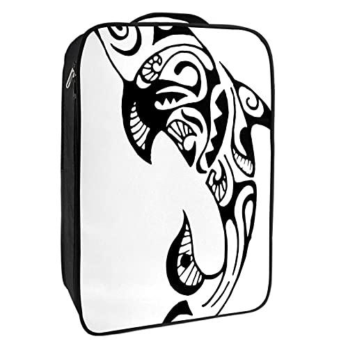 Scatola portaoggetti per scarpe da viaggio e uso quotidiano delfino tatuaggio animale borsa organizer portatile impermeabile fino a 12 metri con doppia cerniera 4 tasche