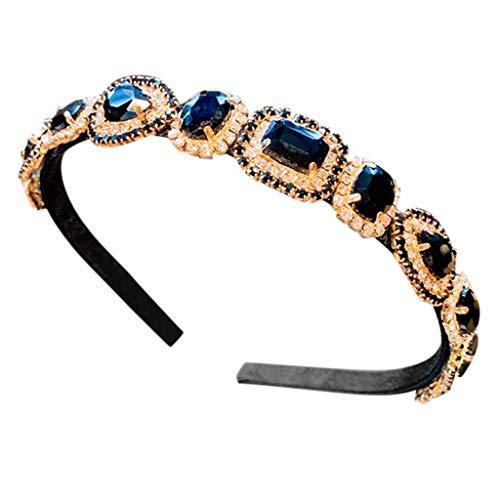 Dicomi Strass Fascia di capelli,Accessori per Capelli Donna Cerchietti per Capelli Decorato con Diamanti Sintetici e Cristalli