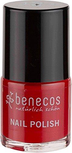 BENECOS - Smalto Rosso Vintage, delicato con Biotina e Avocado - Senza formaldeidi dannosi o colofonia - Senza toluene, ftalati e canfora - Vegan - 9ml