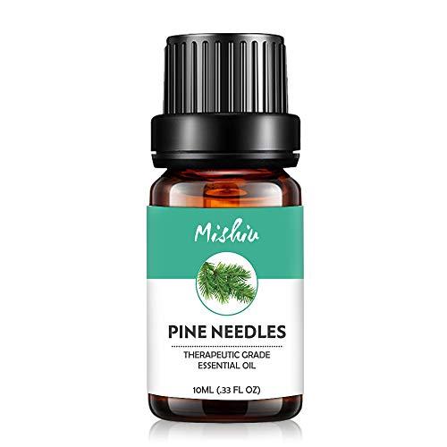 Mishiu Oli Essenziali di Aghi di pino Olio Essenziale Aromaterapia Puro al 100% Unilaterale SPA, Massaggio, Bagno Profumato,10ML - Pine Needles