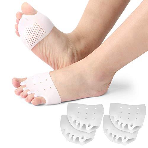 Tinkber - Cuscinetti metatarsali separatori, in gel, per sovrapposizione dita dei piedi, correzione alluce valgo, sollievo dal dolore dell'avampiede, 2 paia