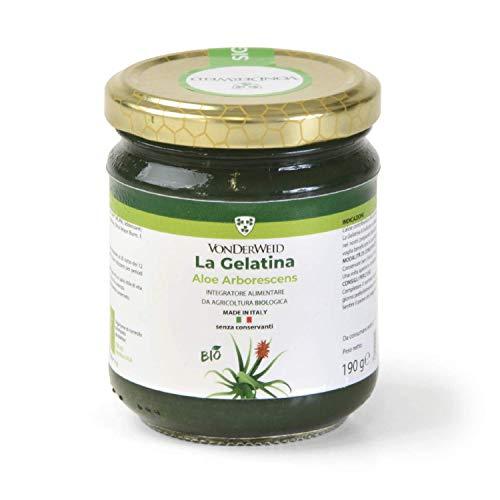 Vonderweid - La Gelatina, Integratore Alimentare Biologico con Foglia Intera di Aloe Arborescens e Gel di Aloe Vera + Olio Essenziale di Limone, 190 Grammi