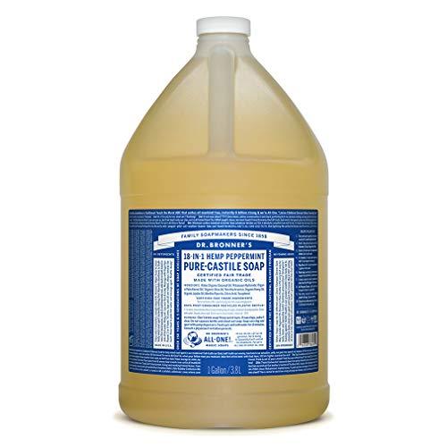 Dr. Bronner's Pure-Castiglia sapone liquido - menta piperita, 1 gallone