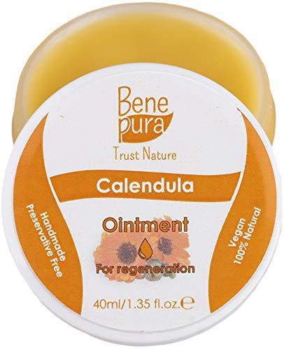 Unguento naturale con calendula da 40 ml, estratto di olio freddo, 100% naturale - aiuta per ferite, lividi, bruciature - concentrato puro della natura - fatto a mano nell'UE