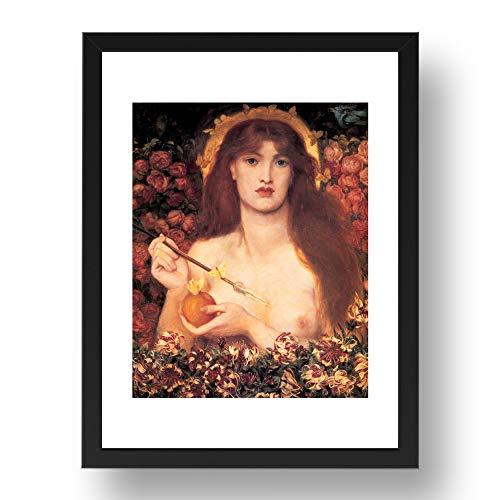 Stampa Periodo Venus Verticordia 1868 A4 di Dante Gabriel Rossetti, arte pre-raffaellita d'epoca, riproduzione A3 in 17x13 (A3) Cornice Nera