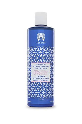 válquer, Shampoo ultraidratante per capelli secchi, senza Sale, solfati, parabeni E Siliconi–400ml