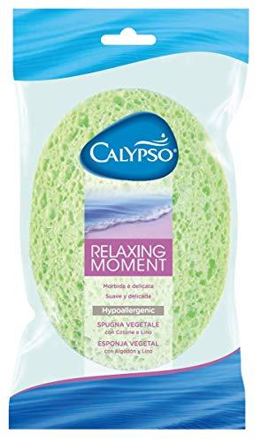 Spontex Calypso, Relaxing Moment, Spugna Vegetale Con Cotone E Lino, Morbida E Delicata, Confezione Da Pezzo, Colori Assortiti Pastello
