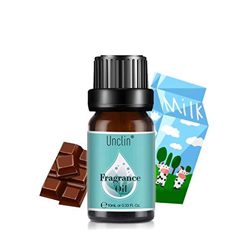 Unclin Oli Profumati, Oli Essenziali per Umidificatore, Aromaterapia per la Casa, Ufficio 10 ml - Latte al cioccolato