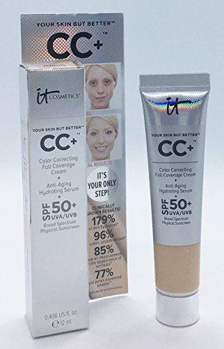 It Cosmetics - CC+, crema SPF 50+, 12 ml, formato da viaggio medio