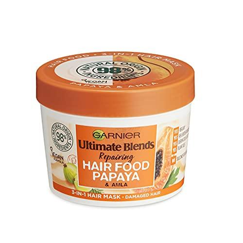Garnier - Ultimate Blends Hair Food Papaya, maschera per capelli 3-in-1, per riparare i capelli danneggiati, 390 ml