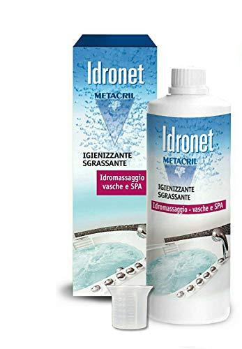 Metacril Idronet 500 ML + Bicchierino dosatore. Igienizzante e Sanificante per Vasca IDROMASSAGGIO(Teuco, Jacuzzi, Albatros, Novellini, Hafro, Glass, ECC.) - Spedizione IMMEDIATA