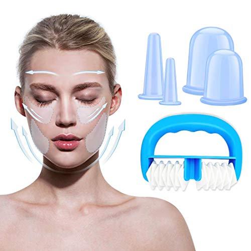 Set per terapia con coppette in silicone Tazze anticellulite con coppe per massaggio corpo Set per terapia con coppette cinesi per salute e bellezza Massaggio con coppette