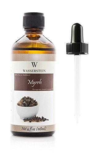 118ml / 4 OZ Olio Essenziale alla Mirra Aromaterapia - Olio essenziale neutro puro al 100% (Commiphora myrrha) di Wasserstein (4oz, Myrrh)
