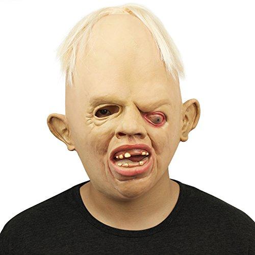 Cusfull Maschera Novit¨¤ in Lattice di Gomma Cry Baby Maschere di Testa Viso Halloween Festa in Costume di Natale Decorazioni Accessorio Adulti