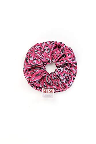 Gelso Elastico per capelli in 100% seta ('leopardo rosa')