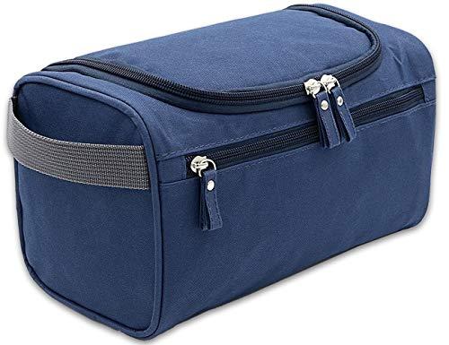 Beauty Case da Viaggio, Boic Borsa Trousse da Viaggio Impermeabile Cosmetico Bag per Uomo e Donne, Borsa da Toilette Appendibile con Gancio e Manigli, Accessori da Bagno per Barba o Trucco (blu)