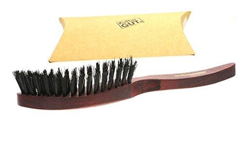 Spazzola per capelli Scalpmaster - spazzola robusta con setole di cinghiale selvatico, in legno domestico tinto e pratiche setole in nylon e fibre naturali, lunghezza ca. 225 mm, made in Germany.