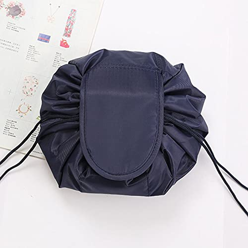 Magic Cosmetic Pouch Bag Drawstring, Makeup Organizer Bag, Fashion Portable Magic Toiletry Kit Organizer Round for Ladies And Girls Outdoor Travel Cosmetic Storage (B)