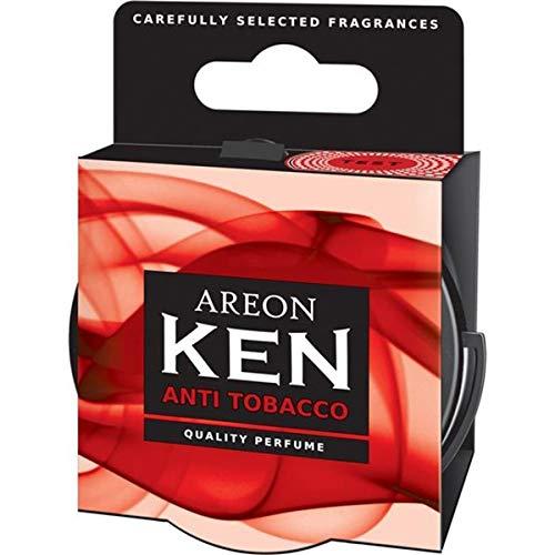 Areon Ken Deodorante Auto Anti Tabacco Antifumo Ambiente Profumatore Contenitore Scatola Originale Profumo Interni Casa 3D ( Anti Tobacco Set x 3 )