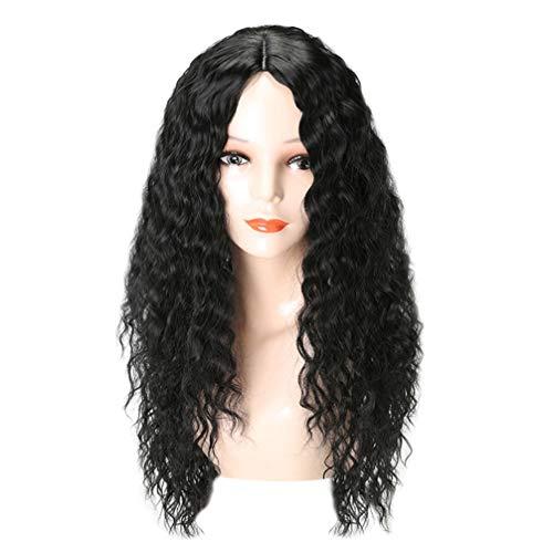 Beaupretty parrucca lunga riccia parrucche anteriori in pizzo nero per donna uomo ragazza