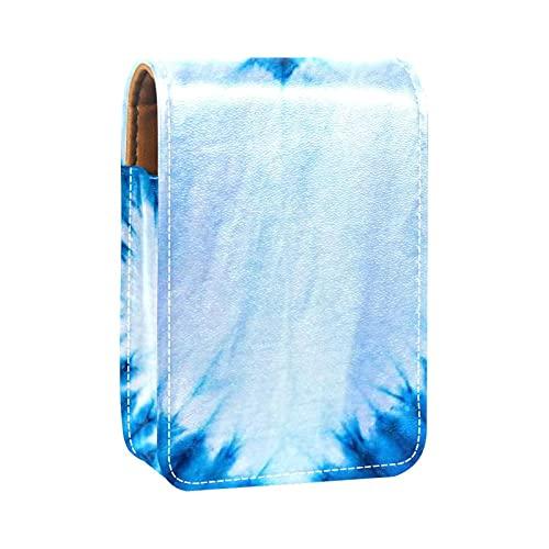 Mini Pelle Sacchetto dell'organizzatore del rossetto,cuore colorante cravatta blu