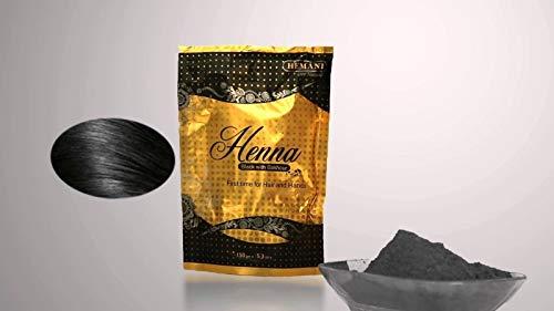 Hemani - Cipria di henné nero con bakhoor per capelli, 150 g
