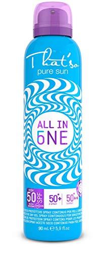 That'so All in One - Protezione Solare Spray Incrementale 50/50+/50++ per bambini e pelli sensibili - 90 ml