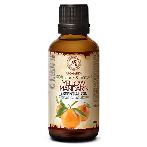 Olio Essenziale di Mandarino 50ml - Citrus Reticulate - Italia - Olio Essenziale Puro - Rilassa e Risveglia il Buon Umore - Aromaterapia - Massaggio - Bellezza - Candelle Profumate
