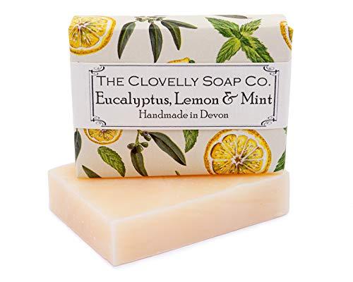 Clovelly Soap Co Saponetta Naturale e Fatta a Mano alla Menta, Eucalipto e Limone, per Tutti i TIpi di Pelle, 100gr