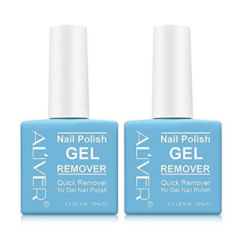 Solvente per unghie in gel, solvente per unghie professionale per le dita, rimuove rapidamente la confezione da 2 smalti semipermanenti