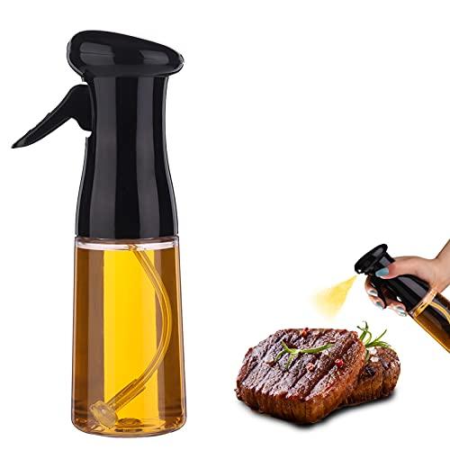 Bestomrogh Spruzzatore Olio 210ml Nebulizzatore Olio da Cucina Olio Spray Aceto Spruzzatore Nebulizzatore di Olio d'oliva Cucina in Vetro per BBQ pane di cottura
