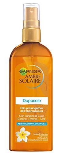 Garnier Ambre Solaire Doposole Olio Prolungatore dell'Abbronzatura, 150 ml