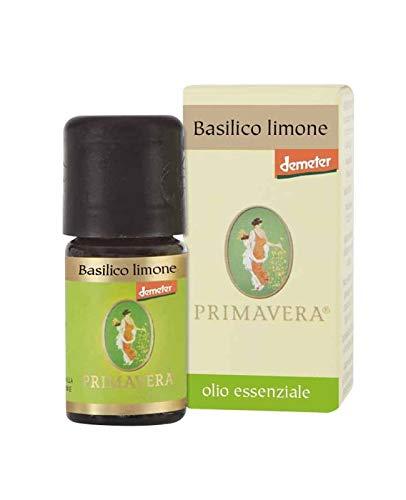 Flora Olio Essenziale Basilico Limone Demeter, Aroma Naturale per Alimenti - 5 ml