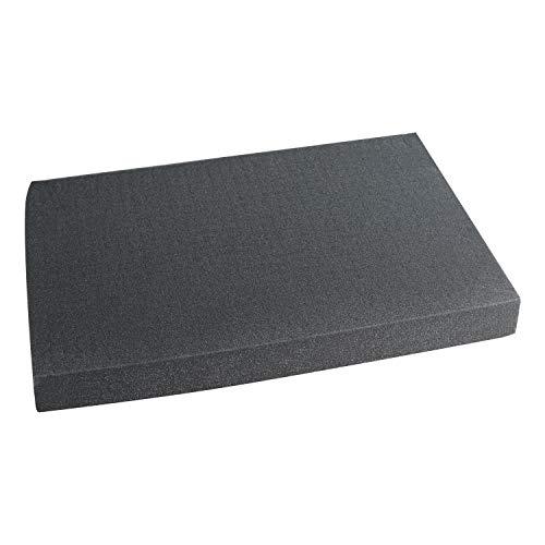 HMF, 1456, schiuma a griglia, 345 x 550 mm, doppio formato, per valigetta, piano del tavolo, diverse altezze 60 mm