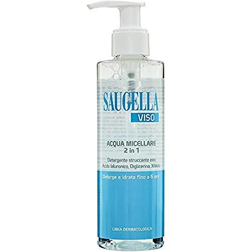 Saugella Viso Acqua Micellare 2In1 Con Acido Ialuronico Diglicerina E Xilitolo Per Rimuovere Impurità E Make Up - 200 Ml