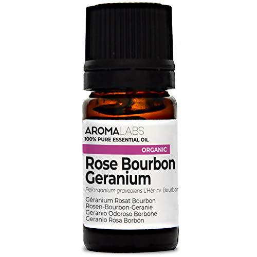 Aroma Labs Geranio Odoroso Borbone Bio - 5Ml - Olio Essenziale Bio E Naturale Al 100% - Qualità Verificata Mediante Cromatografia - Aroma Labs - 5 ml