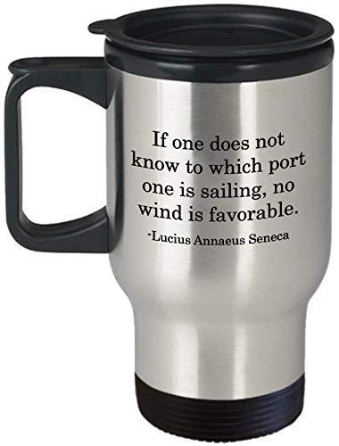 Tazza da viaggio a vela con proverbio, idea regalo per marinaio