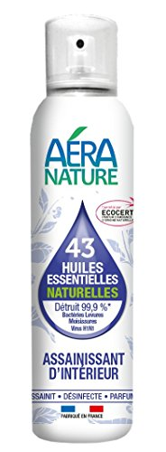 AERA NATURE: Purificante 125ml coperta, 43 oli essenziali naturali, battericida, fungicida, virucida Distrutto il 99,9% dei germi, batteri, lieviti, muffe, funghi, Viris H1N1.