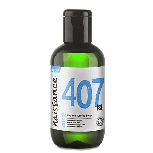 Naissance Sapone di Castiglia liquido certificato biologico senza profumo 100ml – Vegano, privo di SLS e SLES
