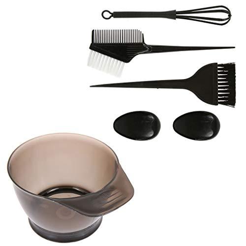 wanzhaofeng Colorazione dei Capelli Tintura Kit Tinta Dye Bowl Set Salon spazzole Strumento di Parrucchiere Che designa attrezzo Nero