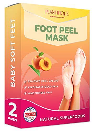 Maschera Piedi Esfoliante - Foot Peel Mask per Peeling Piedi - Scrub Piedi e Pelle Secca e Morta - Ripara i Talloni Ruvidi in 7 giorni - Foot Mask Scrub - Callus Peel Maschere (2 Paia)