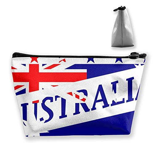 Osmykqe Australia Flag Football World Makeup Bag Travel Cosmetic Bag/Case Toiletry Bag Brushes Bag for Women