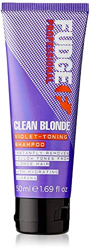 Fudge - Shampoo tonificante viola Clean Blonde, professionale, per capelli biondi