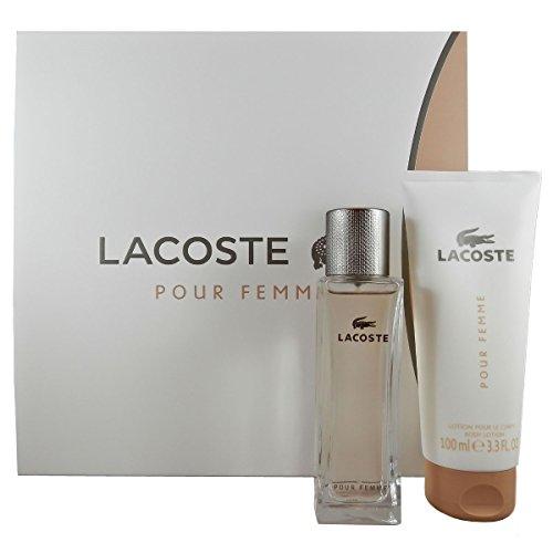 Lacoste Pour Femme, Set (Eau de Parfum, 50 ml + Lozione per il Corpo, 100 ml)